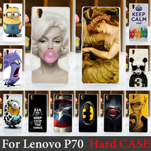 For Lenovo P70 Case Hard Plastic Mobile Phone Cover Case DIY Color Paitn Cellphone Bag Shell  Shipping Free