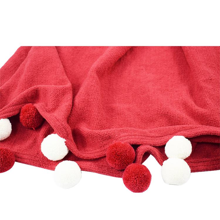 Free Sample Cheap Soft Children Winter Blanket,super Soft Pom Pom Blanket For Baby