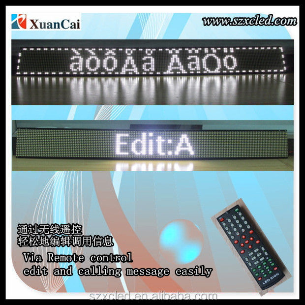 programable Monochrome SMD 80X800mm ultrathin P5-16X160 LED message board
