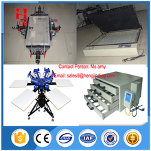 6 color manual t shirt screen printing machine with high quality