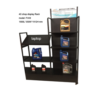 Engine oil display stand / lubricating oil display shelf / detergents display rack