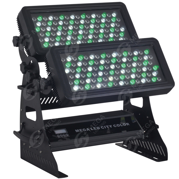 Led city color light 192pcs 3w rgbw wall washer with dmx512