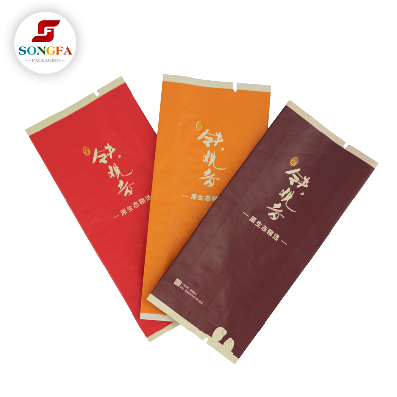 Security material plastic packaging empty bags tea for wholesale