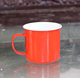 160ml to 3L two color metal enamel mug with custom logo classic enamelware made in China OEM cooperation with customer logo