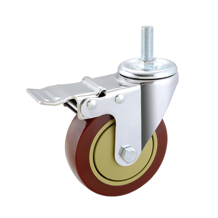 Factory price stem swivel caster wheel with brake for trailers