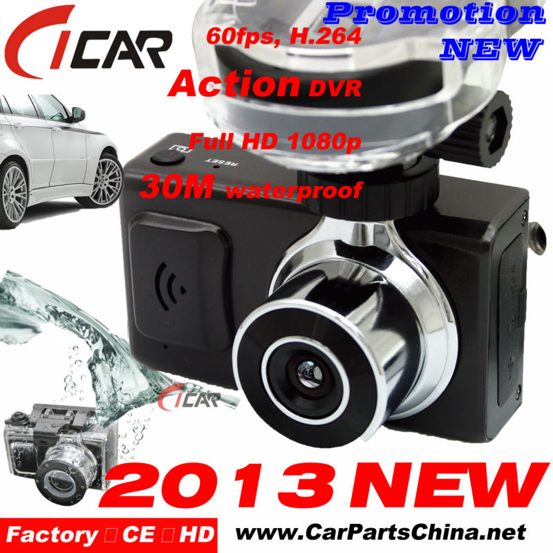 Factory Promotion Full 1080P HD High Speed Recording GPS Waterproof Car Camera Recorder