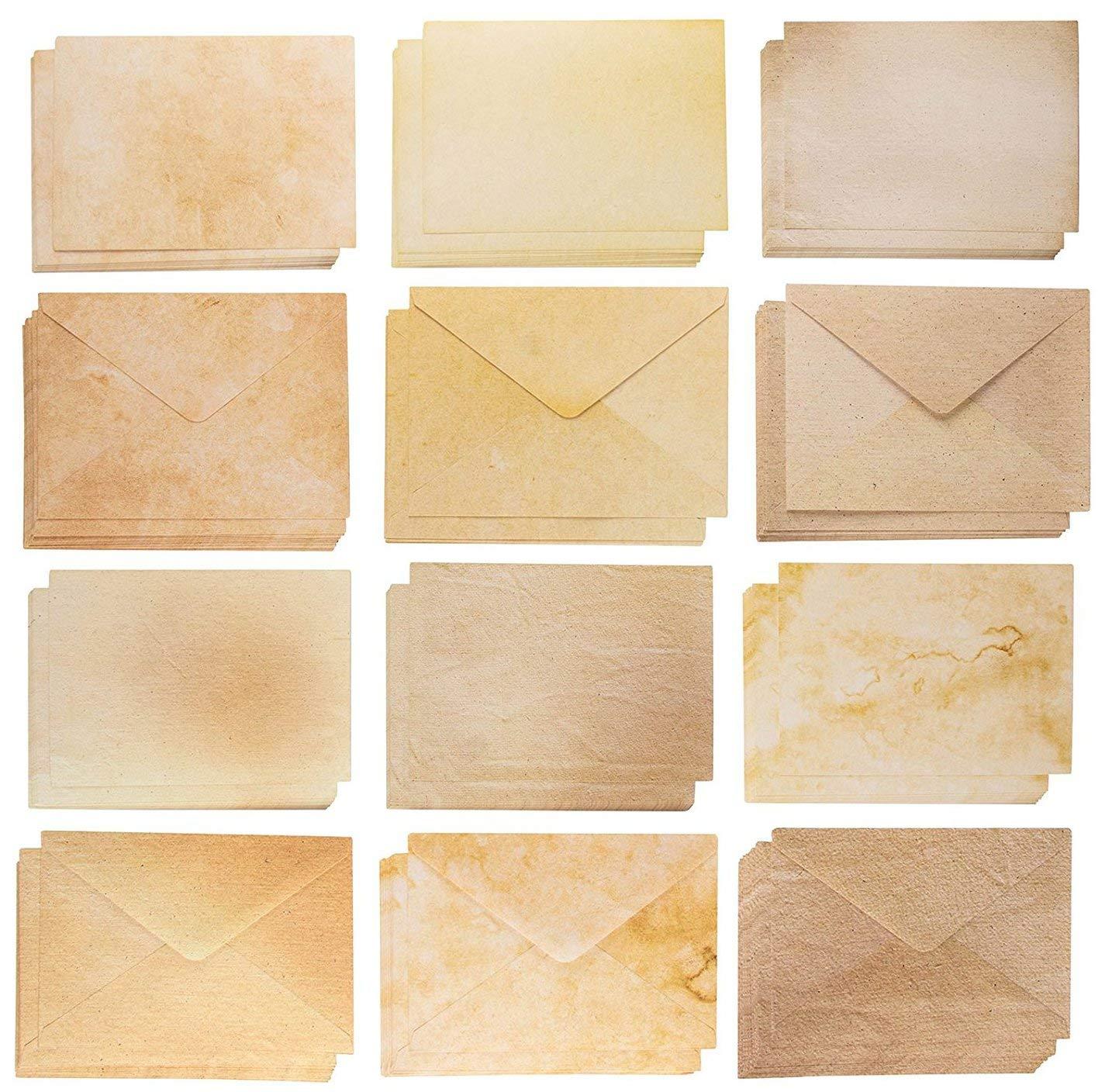 Aged Vintage-style Parchment Envelopes #10