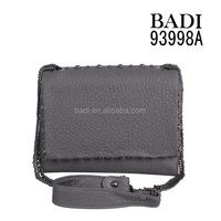 Fashion Women's genuine leather crossbody bag with studs