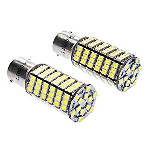 SS- 1156/BA15S 7W 6000-6500K 480LM 120x3528SMD LED White Light Bulb (DC 12V, 1-Pair)