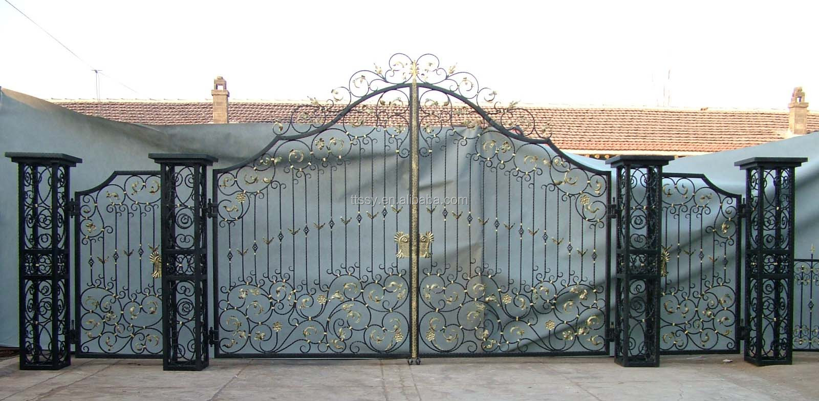 Modern Wrought Iron Main Gate Design For Home Villa And Garden   Buy Main  Iron Gate Main Iron Gate Iron Gates Product on Alibaba com. Modern Wrought Iron Main Gate Design For Home Villa And Garden