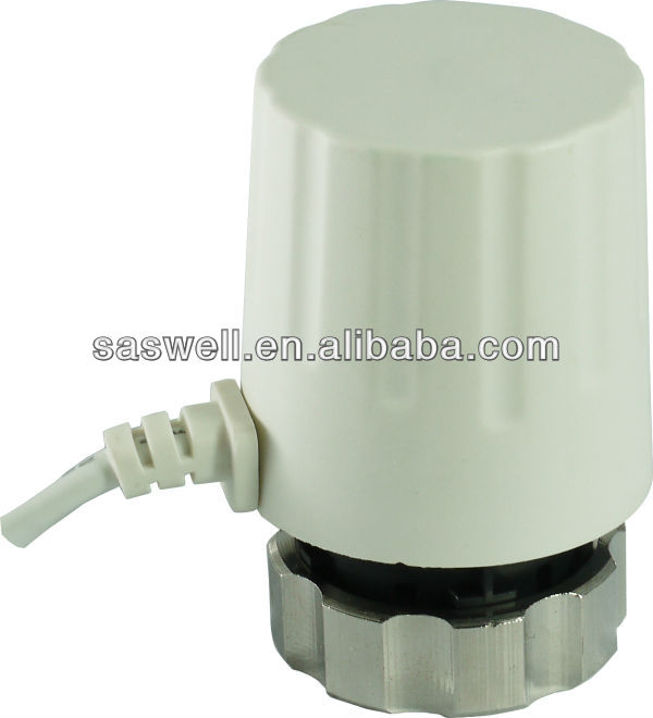 electric thermal actuator use in floor heating mix water system