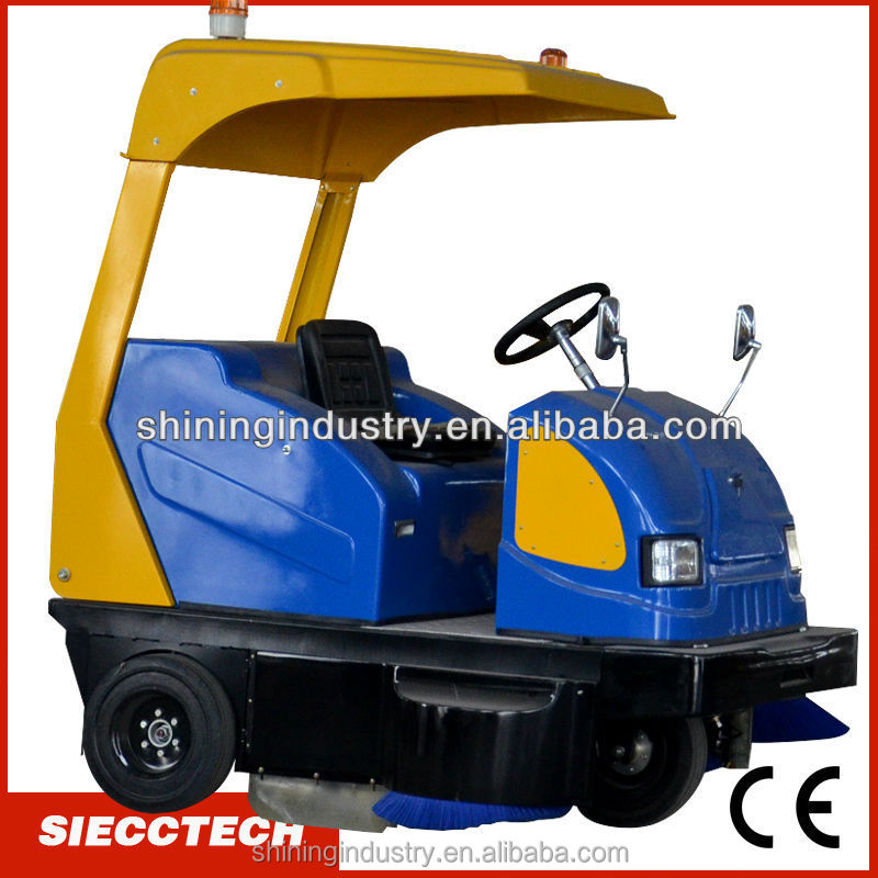 Electric ride on sweeper/vacuum sidewalk sweeper/warehouse sweeping machine - SIECC