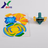 PP plastic one piece card DIY toys for kids food promotional design diy spinner top