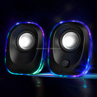2018 new design pc sound system 2.0 wired computer speaker