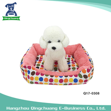 Not easy deformation dot printed cute pet dog cat bed with cushion