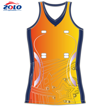 Cheap Custom Made Sublimation Printing Junior Netball Uniforms