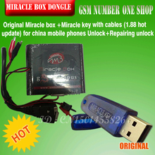 Free ship 2015  Original Miracle box +Miracle key with cables (1.88 hot update) for china mobile phones Unlock+Repairing unlock