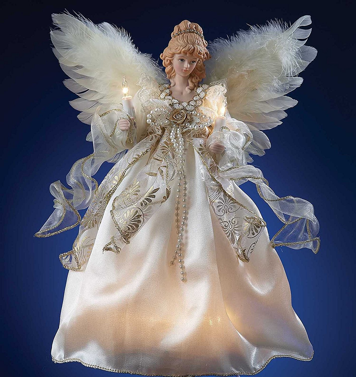 Small Angel Christmas Tree Topper: Lighted Angel Tree Topper