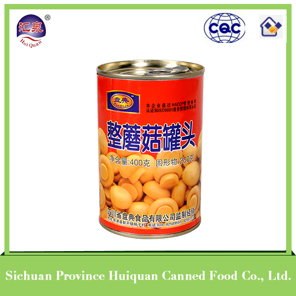 2015 hot selling canned food slice canned mushroom