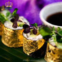 Healthy and luxury 24k edible gold leaf for wine and coffee decoration