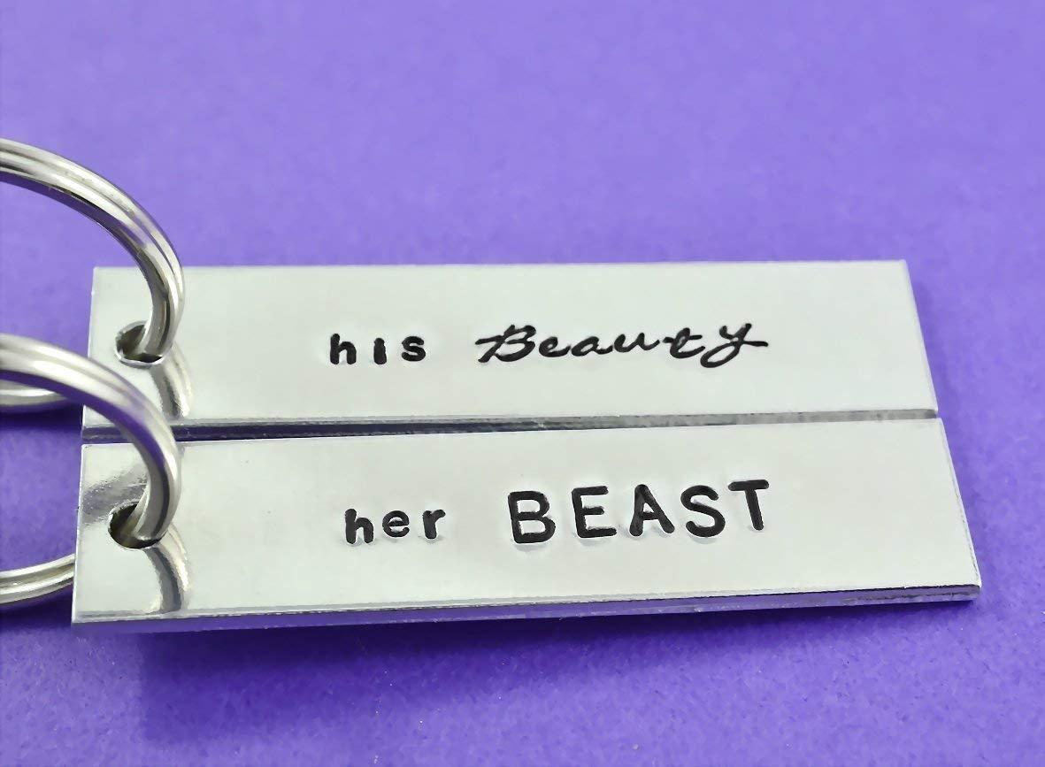DEYYA Wolf Couple Love Leather Key Case Wallets Unisex Keychain Key Holder with 6 Hooks Snap Closure