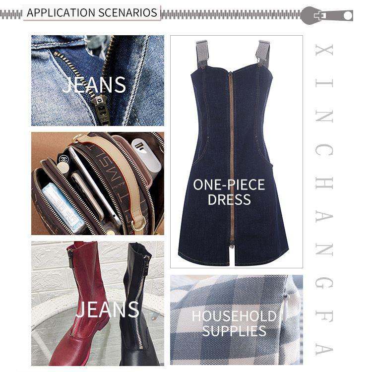 No.1 3 zwart code rits groothandel thuis textiel kleding quilt kussensloop garderobe drie nylon rits