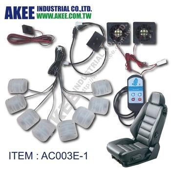 2 Cooling Fans With 8 Vibration Motors Car Seat Massage System