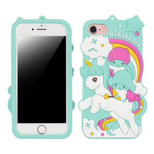 HAISSKY Lovely 3D Unicorn kiki&lala Case Horse Cute Cartoon Silicon Soft Phone Case For iPhone 6 7 8 plus X