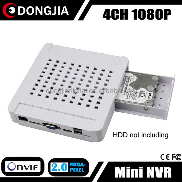 DONGJIA DJ-3004M White Housing 4CH Mini DVR With CMS Controller App