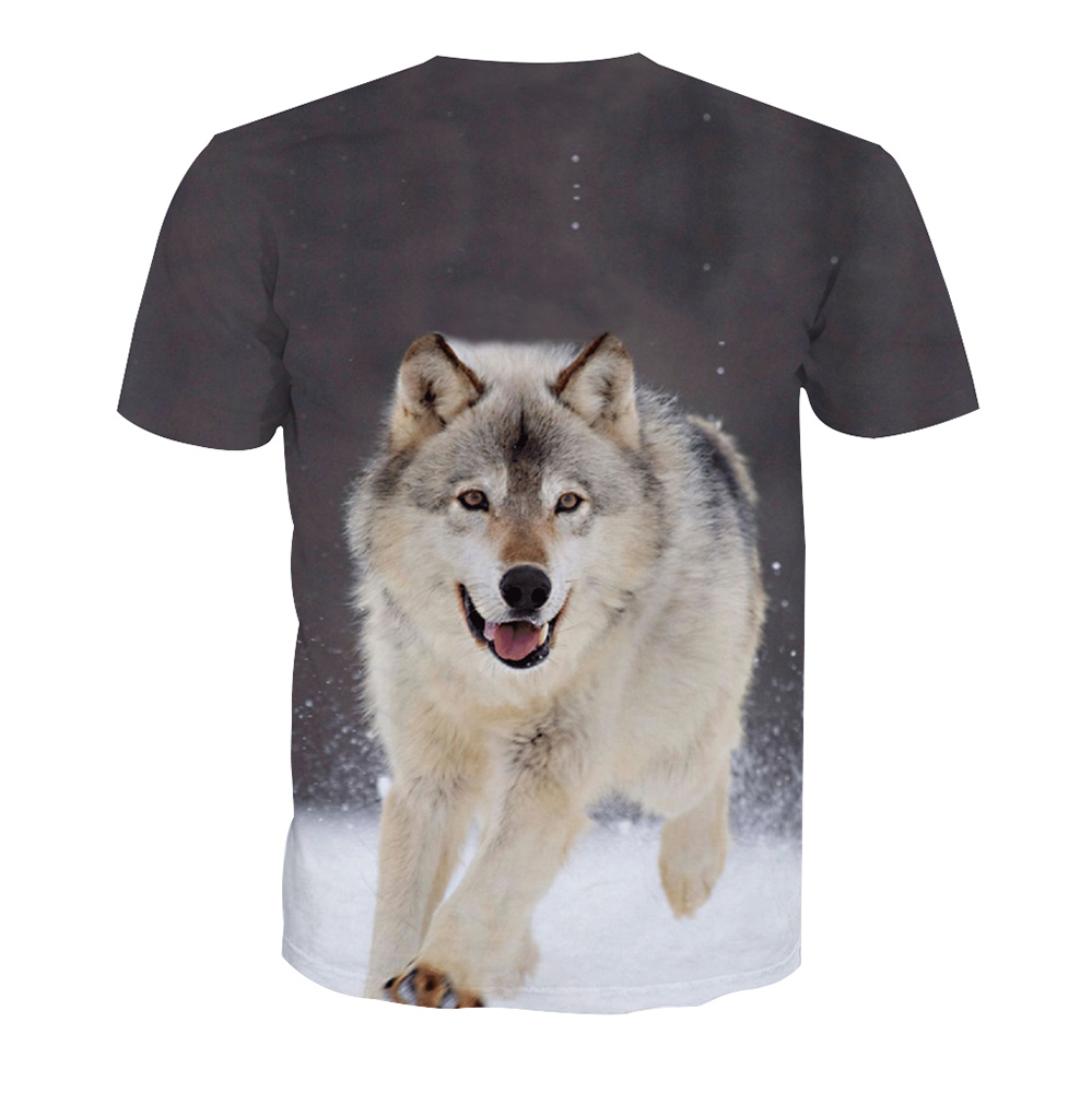 1piece custom your own <strong>design</strong> 3D snow wolf full printing American apparel t shirt,man blank 3D printed tshirt
