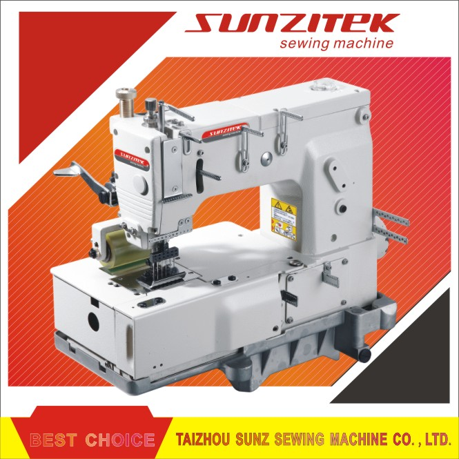 6 needle Flat bed double chain stitch industrial sewing machine