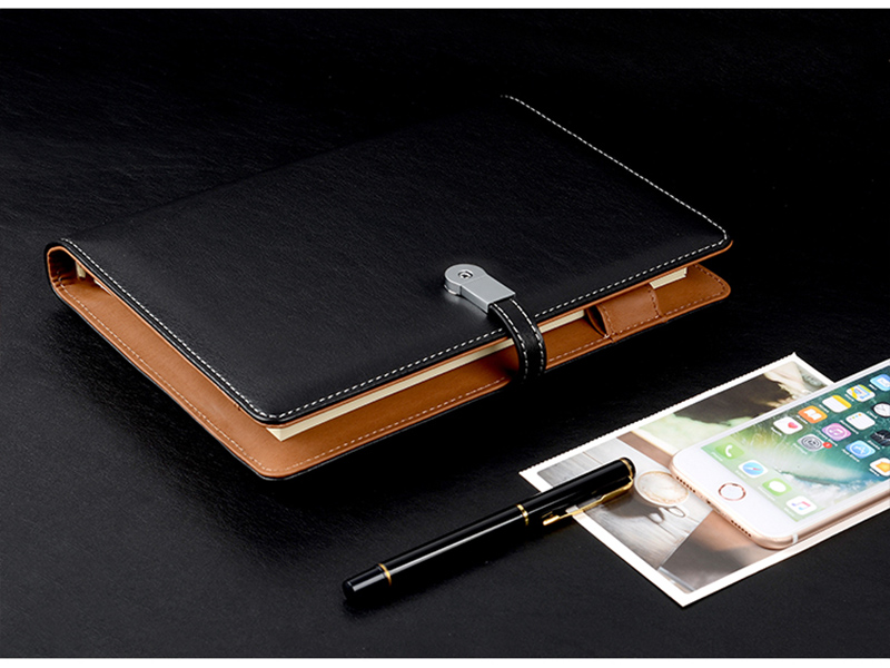 6000 Mah Power Bank Pu Planner Notebook Diary Journal With Powerbank