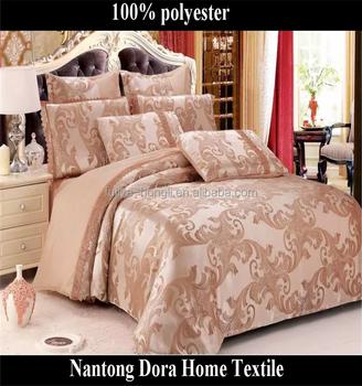 Custom Jacquard Bedding Set Full Size 100 Polyester Saudi Arabia Style Comforter