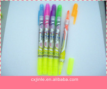 novelty design cute shaped double tips marker Highlighter pen