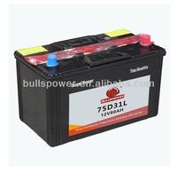 Auto JIS jump start car battery pack75D31L,12v 80ah mf car battery,racing car battery JIS 80AH