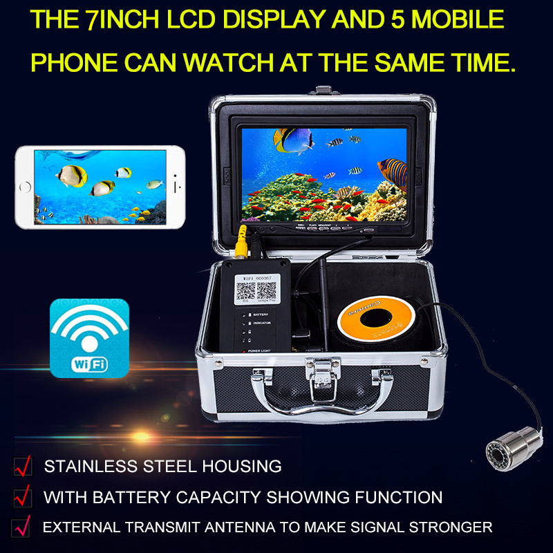 Wireless Portable Underwater Fish Finder Camera for 15M Professional Video Fish Camera Underwater Fishing Camera