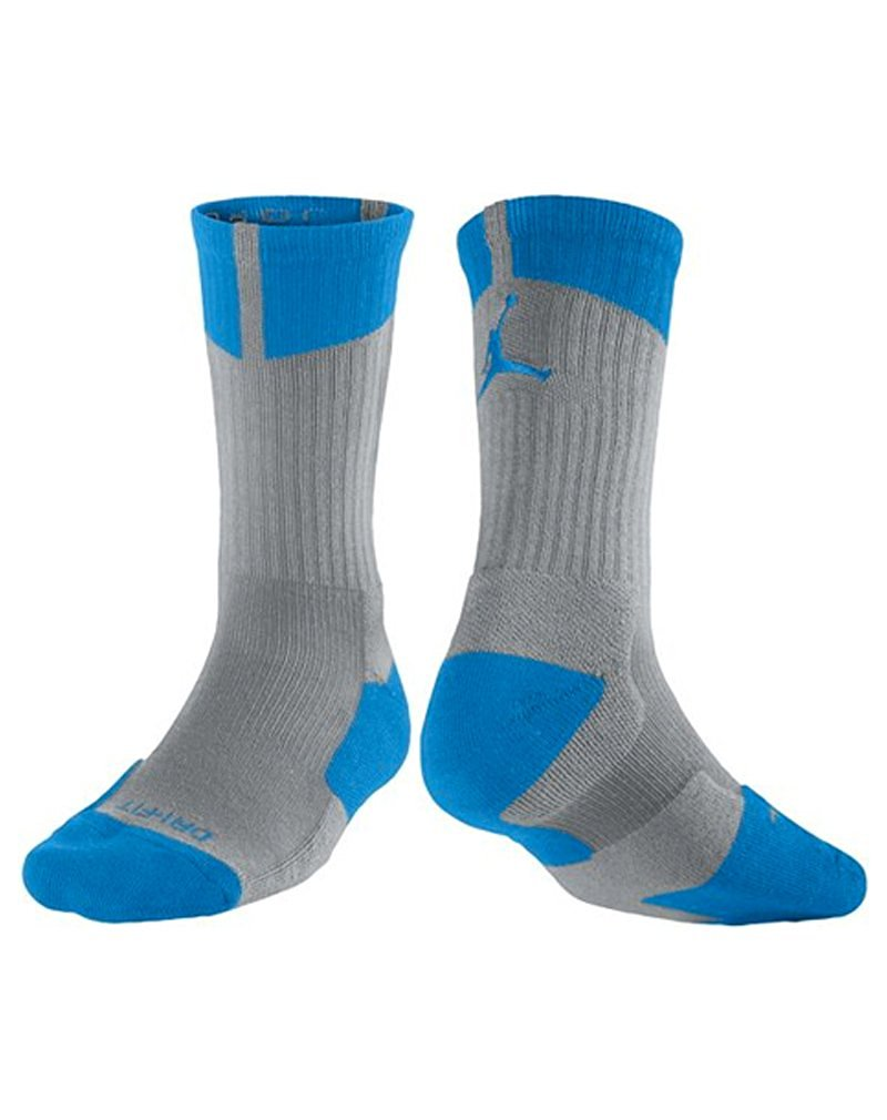 Air Jordan Jumpman Dri-Fit Crew Mens Socks Cool Grey//Dark Grey 589042-066
