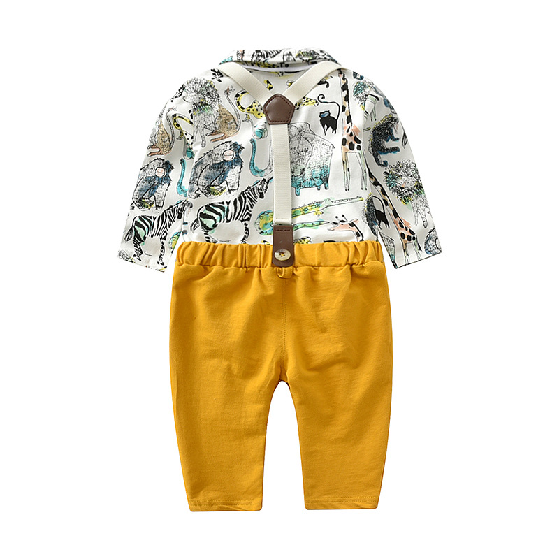 comfortable new design baby frock designs baby boy formal gentleman sets in yellow color