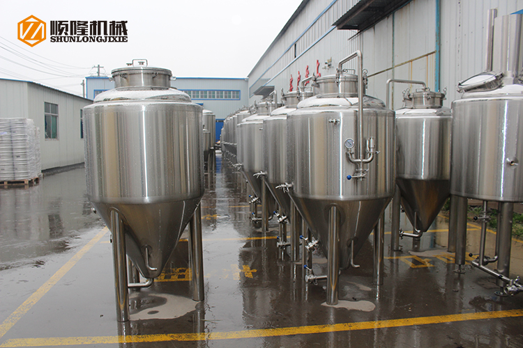 200L mirror SUS 304 glycol jacket food grade mini homebrew beer fermenter for beer brewers crafts and pubs
