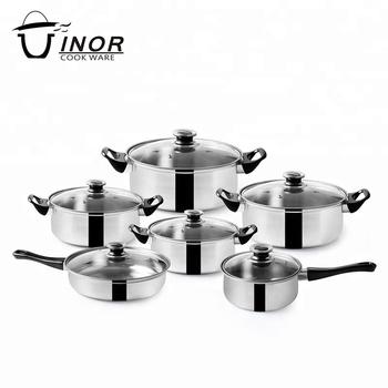 6 Pcs Stainless Cooking Pot Kitchen Set