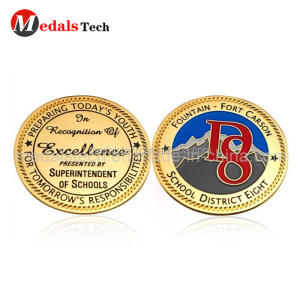 Casting crafts new product good luck gold school coins