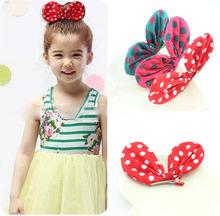 1pcLittle Girl Love Rabbit Ears Hair Clips Bubblegum Bow Kids Hair Wear Accessories Para Cheveux Party