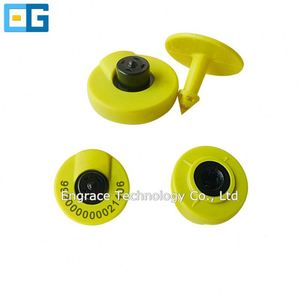 EPC CLASS1 Gen2 / ISO 18000-6C RFID UHF long reading distance animals ear tag for management tracking and identification