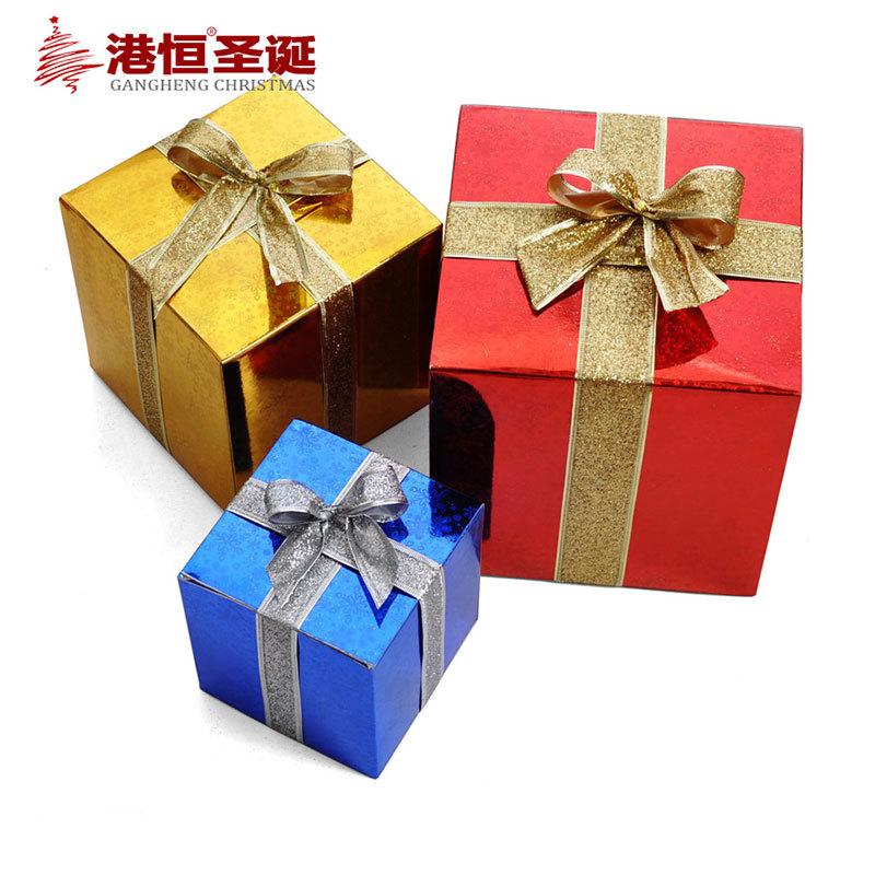 Gift Box Christmas Decorations: Christmas-gift-box-10cm-30cm-Paper-Light-Christmas-gift