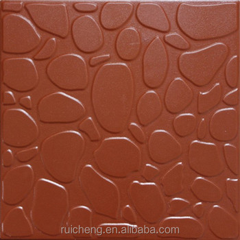 Red Clay Floor Tile 300x300mm Non Slip For Indoor And Outdoor From