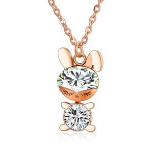 Lovely Bunny Necklace Natural Crystal Jewellery