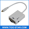 High-Speed Standard Cable male to VGA female converter with Audio