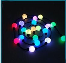 Ws2801 50 mm SMD 5050 RGB DC 24V 360 illuminated led pixel lighting for curtain