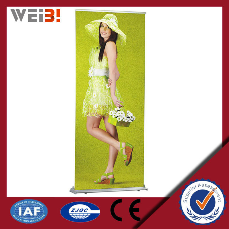 Outdoor Advertising Fabric Display Roll Up Stands