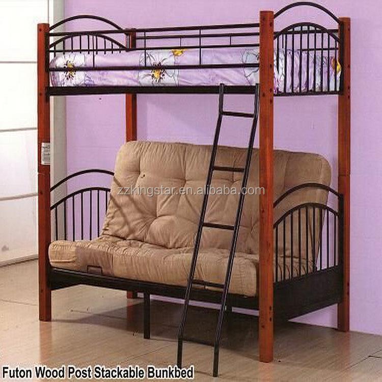 wood and metal futon bunk bed | Roselawnlutheran